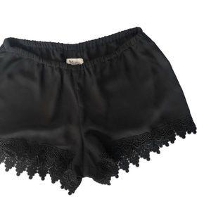 Show Me Your Mumu Crochet Lace Trim Shorts